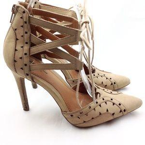 MIA Tan Caged Heels 6.5 - N405